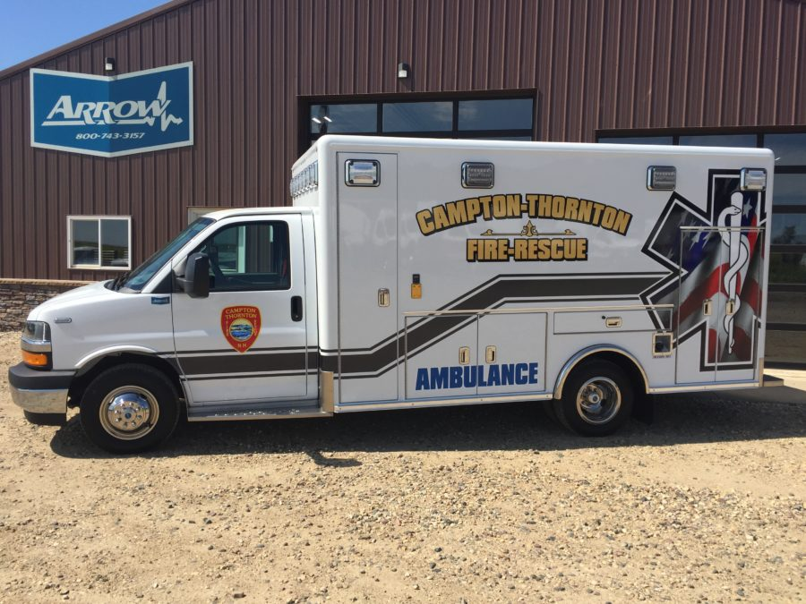 2019 Chevrolet G4500 Type 3 Ambulance delivered to Campton-Thornton Fire Rescue in Campton, NH