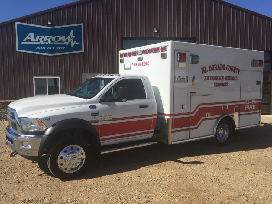 2017 Ram 4500 Heavy Duty 4x4 Ambulance delivered to El Dorado County in Diamond Springs, CA