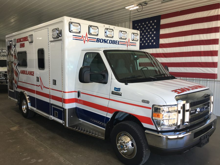 2019 Ford E450 Type 3 Ambulance delivered to Boscobel Rescue Squad Inc. in Boscobel, WI