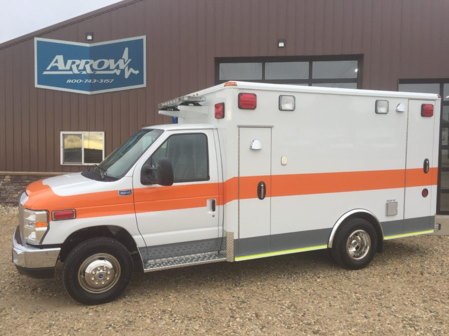 2017 Ford E350 Type 3 Ambulance delivered to Metro Medical Services in Loves Park, IL