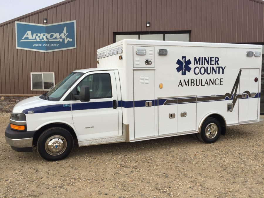 2017 Chevrolet G4500 Type 3 Ambulance delivered to Miner County Ambulance in Howard, SD