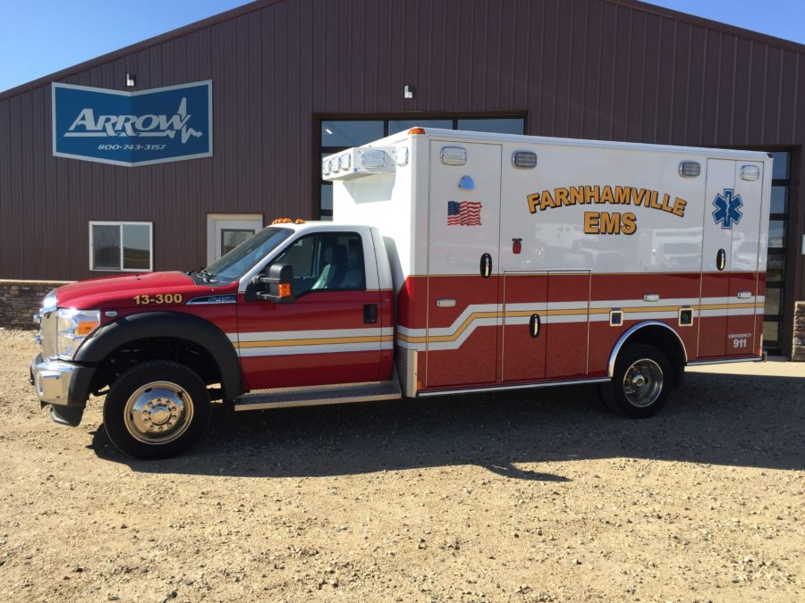 2015 Ford F450 Heavy Duty 4x4 Ambulance delivered to Farnhamville EMS in Farnhamville, IA