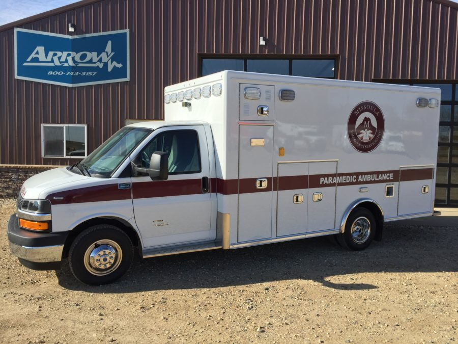 2018 Chevrolet G4500 Type 3 Ambulance delivered to Missoula Emergency Services in Missoula, MT
