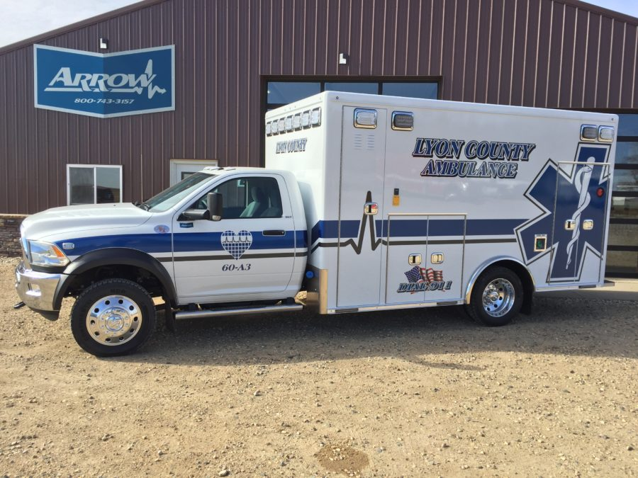 2017 Ram 4500 Heavy Duty 4x4 Ambulance delivered to Lyon County Ambulance in Rock Rapids, IA