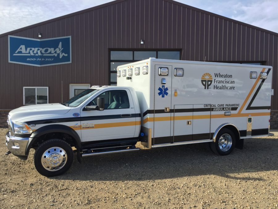 2017 Ram 4500 Heavy Duty 4x4 Ambulance delivered to Wheaton Franciscan Health Care in Waterloo, IA