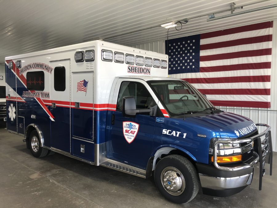 2019 Chevrolet G4500 Type 3 Ambulance delivered to Sheldon Community Ambulance Team in Sheldon, IA