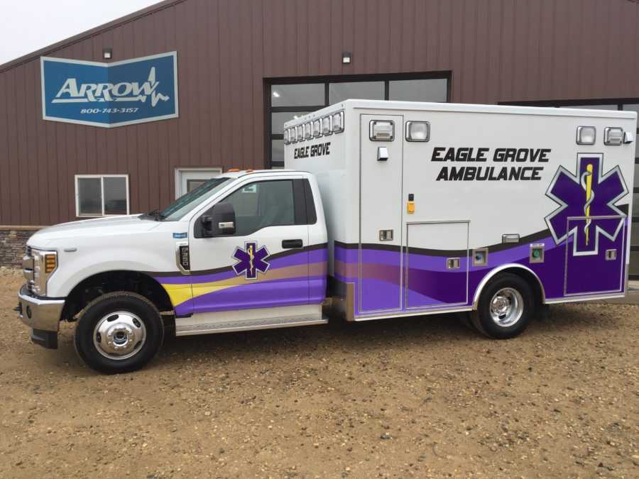 2019 Ford F350 Type 1 4x4 Ambulance delivered to Eagle Grove Ambulance in Eagle Grove, IA