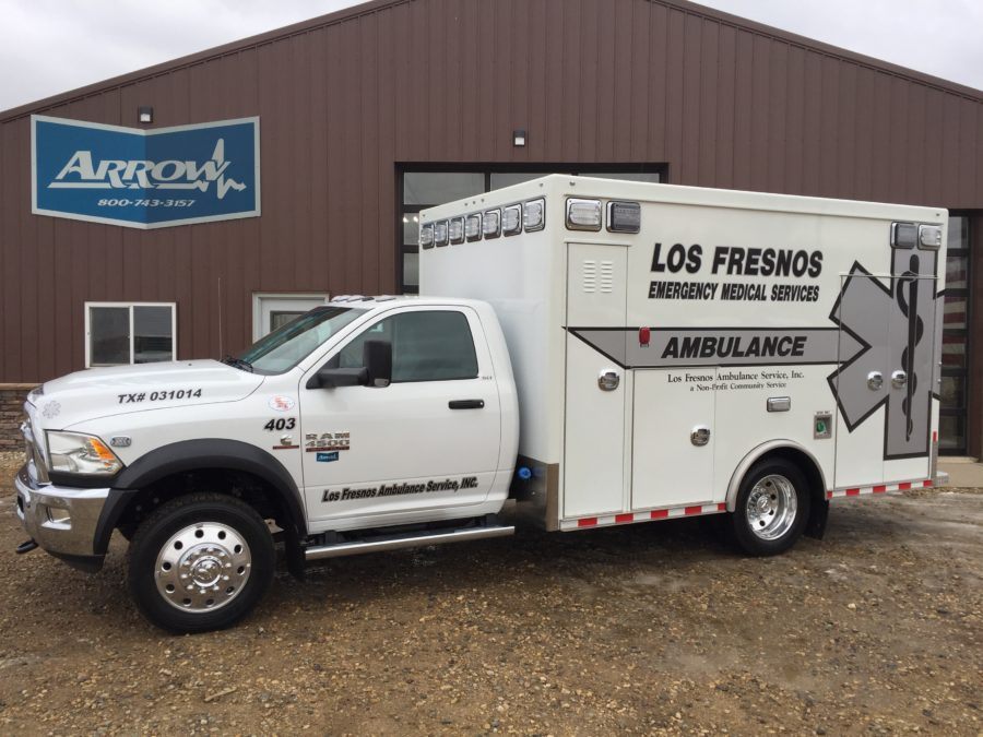 2017 Ram 4500 Heavy Duty 4x4 Ambulance delivered to Los Fresnos EMS in Los Fresnos, TX