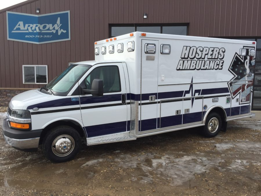 2016 Chevrolet G4500 Type 3 Ambulance delivered to Hospers Ambulance in Hosers, IA