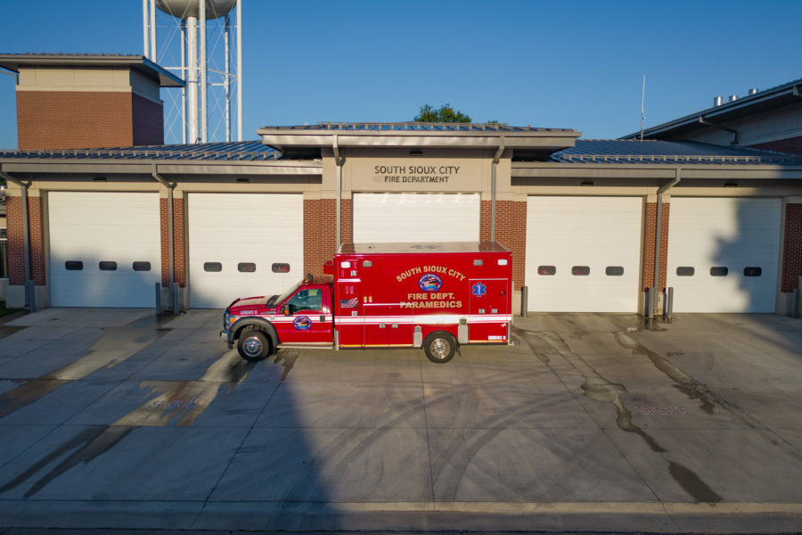 2012 Ford F550 Heavy Duty 4x4 Ambulance delivered to South Sioux City Fire Rescue in South Sioux City, NE
