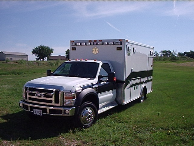 2007 Ford F450 Type 1 4x4 Ambulance delivered to Missouri Valley Ambulance Service in Chamberlain, SD