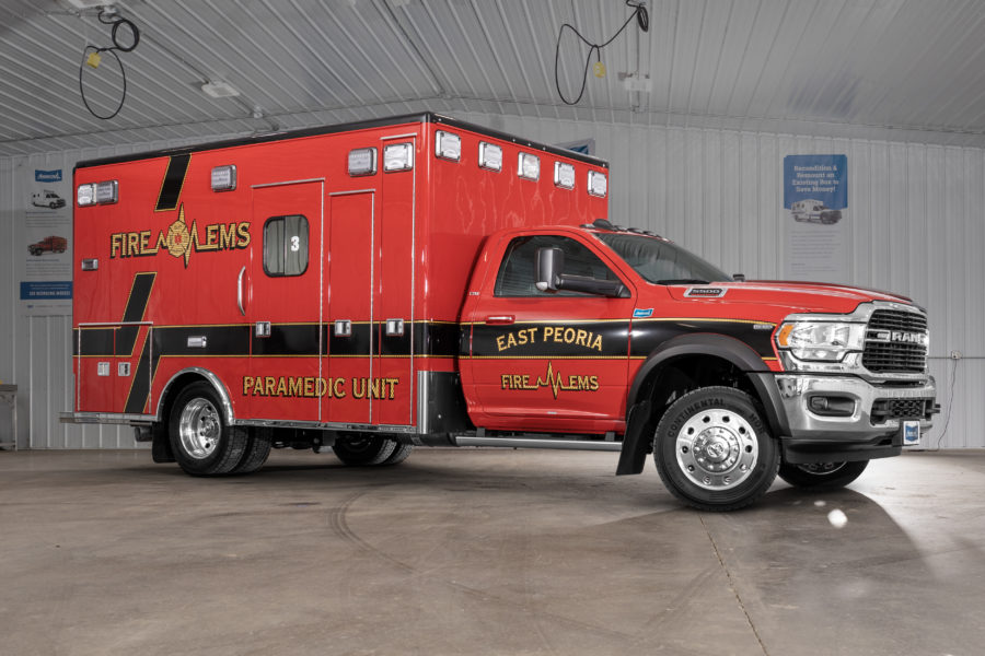 2019 Ram 5500 Heavy Duty 4x4 Ambulance delivered to East Peoria Fire Department in East Peoria, IL