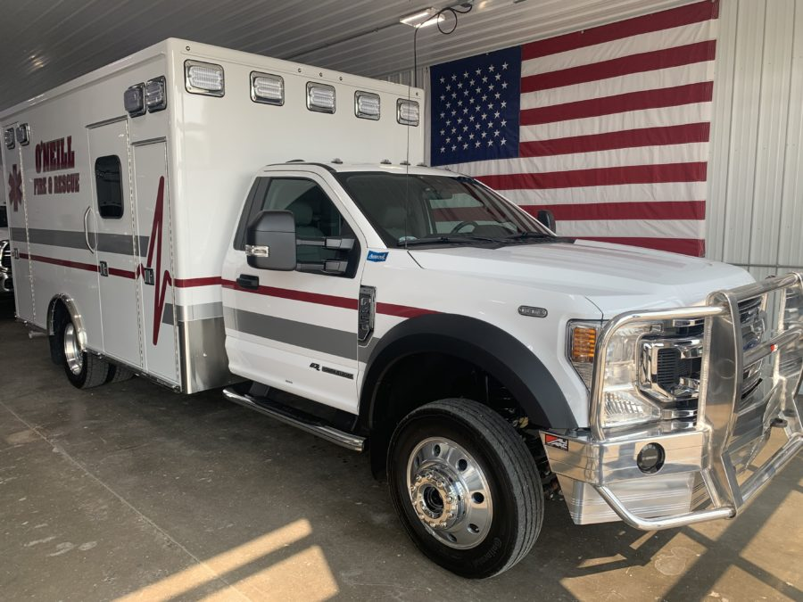 2021 Ford F450 Heavy Duty 4x4 Ambulance delivered to O'Neill Rural Fire Dist in O'Neill, NE