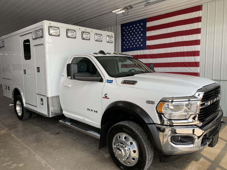 2020 Ram 4500 Heavy Duty 4x4 Ambulance delivered to Idyllwild Fire Department in Idyllwild, CA