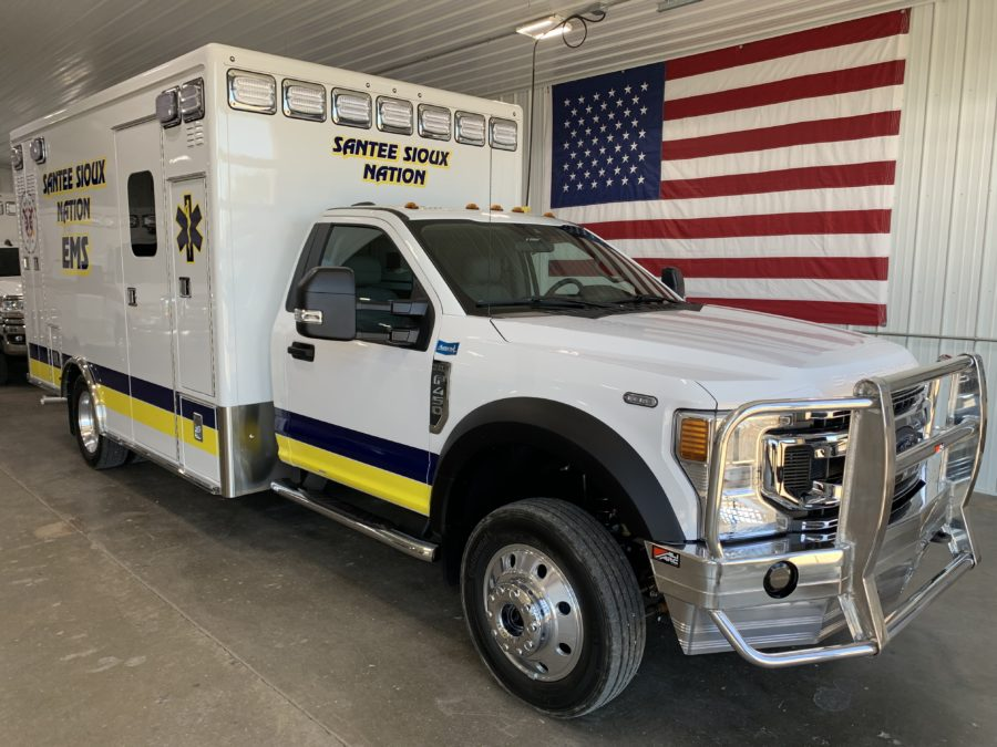 2021 Ford 4500 Heavy Duty 4x4 Ambulance delivered to Santee Sioux Health Center in Niobrara, NE