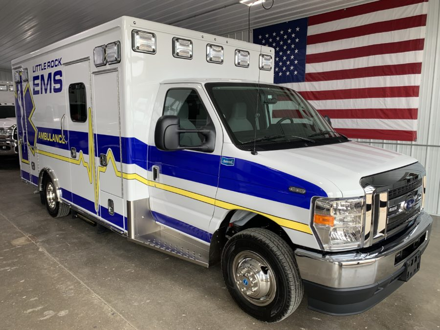 2022 Ford E450 Heavy Duty Ambulance delivered to Little Rock EMS in Little Rock, IA
