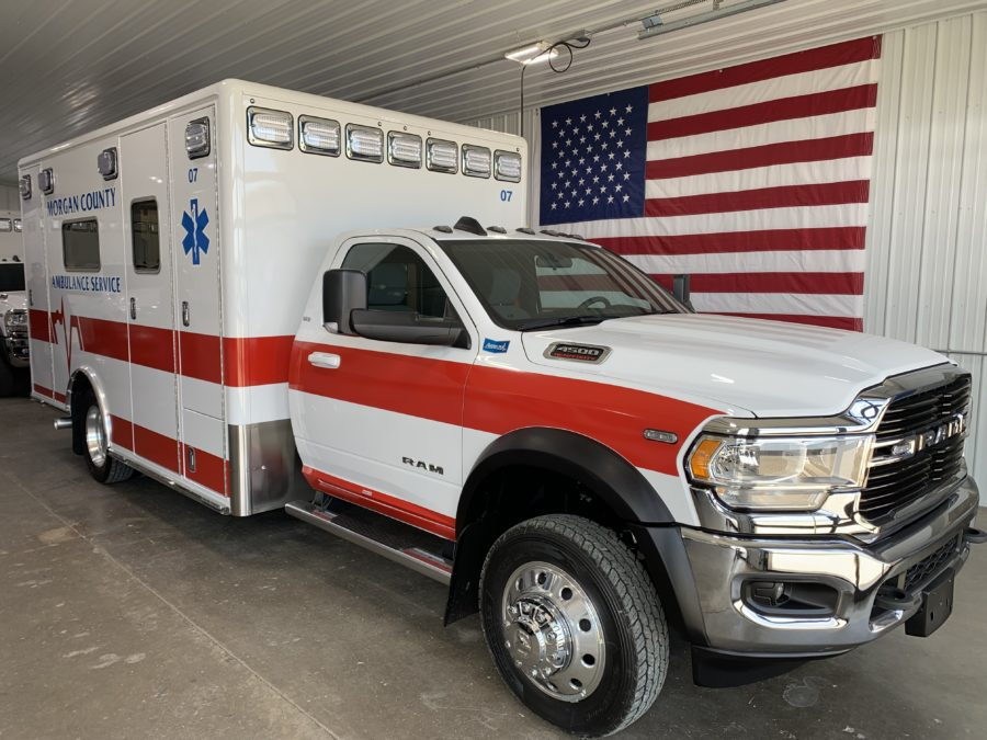 2021 Ram 4500 Heavy Duty 4x4 Ambulance delivered to Morgan County Ambulance Service in Fort Morgan, CO
