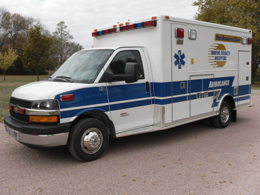 2012 Chevrolet G4500 Type 3 Ambulance delivered to Wayne County Hospital in Corydon, IA