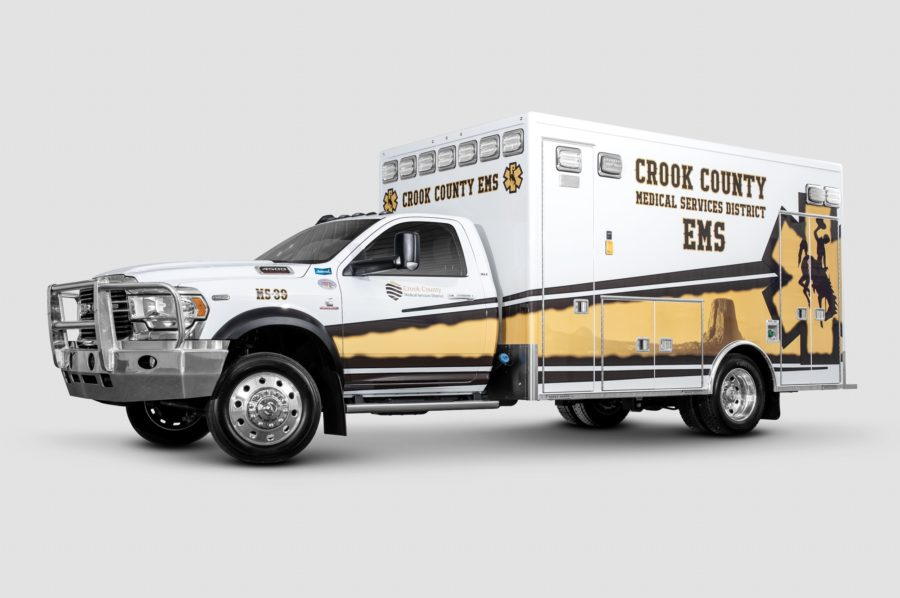 2019 Ram 4500 Heavy Duty 4x4 Ambulance delivered to Crook County Medical Services in Sundance, WY