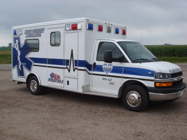 Ambulance delivered to Lyon County Ambulance