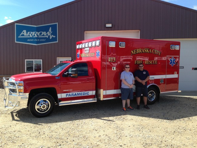 Ambulance delivered to Nebraska City Fire Rescue