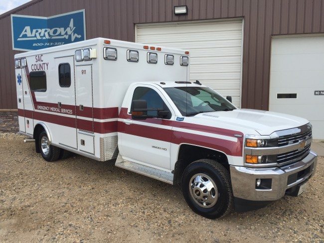 2015 Chevrolet K3500 Type 1 4x4 Ambulance delivered to Sac County Ambulance in Sac City, IA