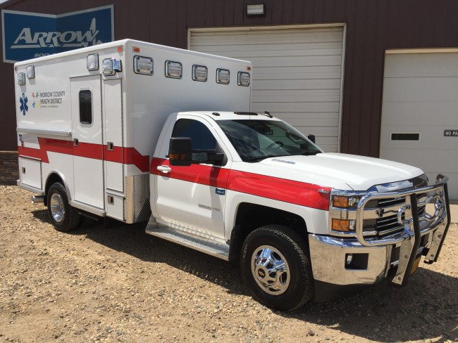 2016 Chevrolet K3500  Type 1 4x4 Ambulance delivered to Morrow County Health District in Heppner, OR