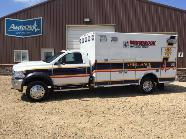Ambulance delivered to Westbrook Ambulance Service